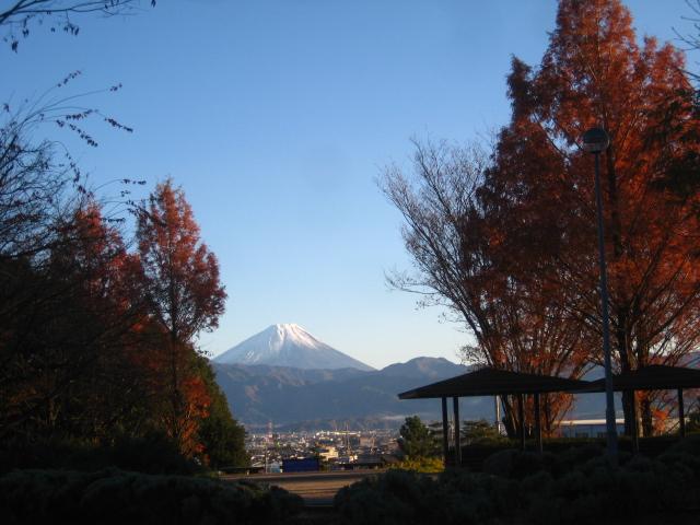富士山の雪化粧。