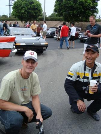 8-22car show scott and Tom