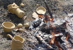 火の周りで乾かす2