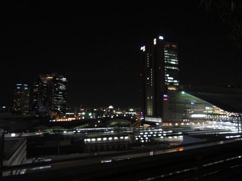 ハービスエント7階からの駅眺め