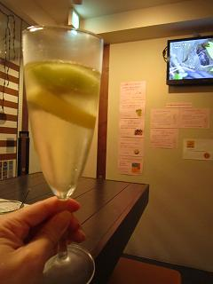 生樽スパークリングワイン(白)+キウイ