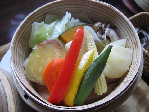 お野菜の段