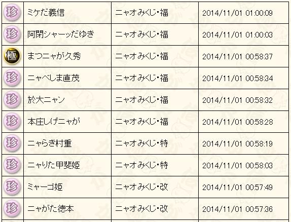 10月末くじ結果2014福