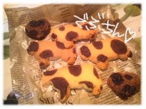 ぶたのクッキー(違