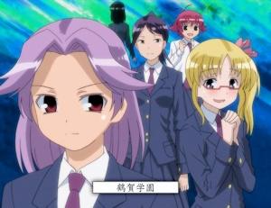 鶴賀学園メンバー。部長なのにやたら小さい蒲原智美(笑)。モモは特性上これでいいけど