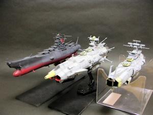戦艦トリオ。波動砲装備は当然