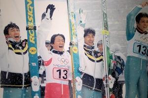 長野オリンピックの日の丸飛行隊