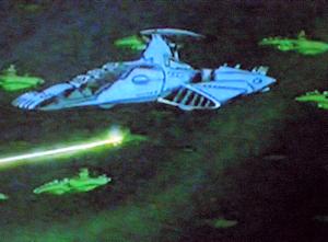 異次元空洞で遭遇したドメル艦隊