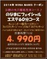 フェイシャル徹底毛穴洗浄60分2014.1.2