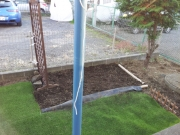 整地後の庭