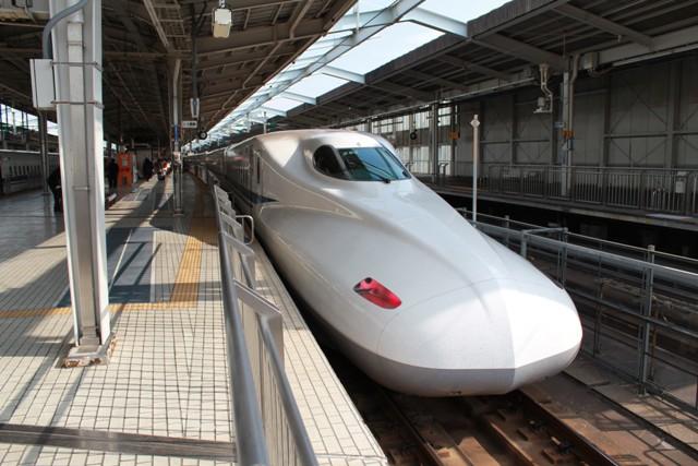 新幹線が来たよ
