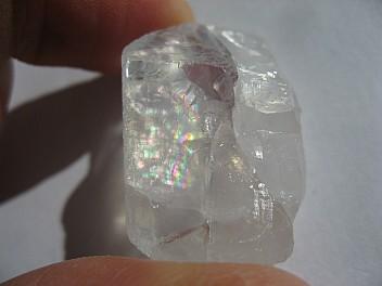 Moonstone with rainbow