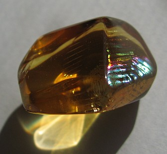Rainbow in citrine