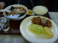 街道ラーメン美味 日替ランチ(びっくりメンチ定食)