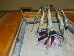 囲炉裏コースの魚