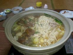 夕食時の鍋