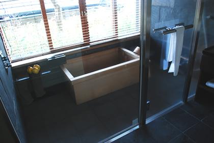 星のや軽井沢 客室風呂