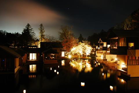 星のや軽井沢 夜景1
