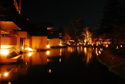星のや軽井沢 夜景2
