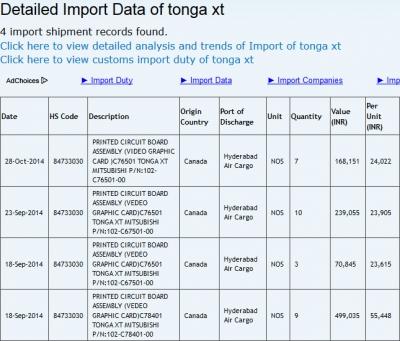 Tonga XT(2014年11月11日)
