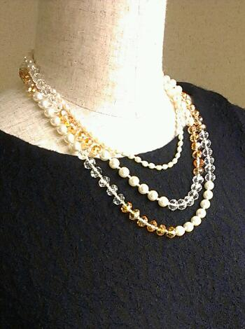 Pearl+Beads Long Necklace