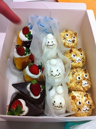 差し入れケーキ