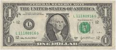 ドル札ワシントン縮小