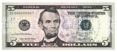 ドル札リンカーン縮小