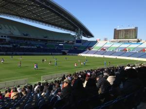 高校サッカー観戦 !!
