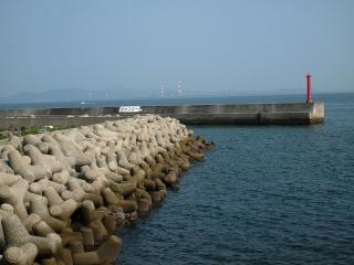 日間賀島 東港