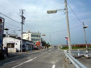 日間賀島で唯一の信号機
