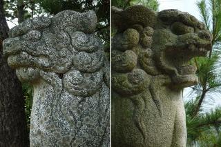 日間賀神社の狛犬