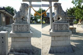 前庭天神社・院庭天神社の狛犬