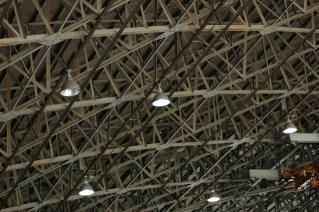 格納庫の天井