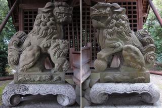 縣明社の狛犬