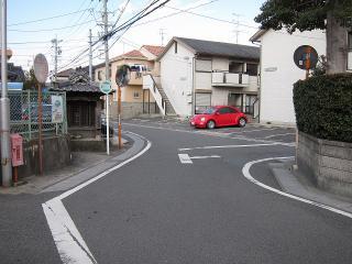 あま市篠田上大門辺り