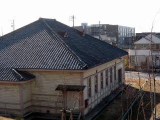 旧日清紡針崎工場竜城学園講堂 (旧愛知県立第二中学校講堂)