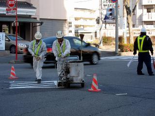 道路区画線施工
