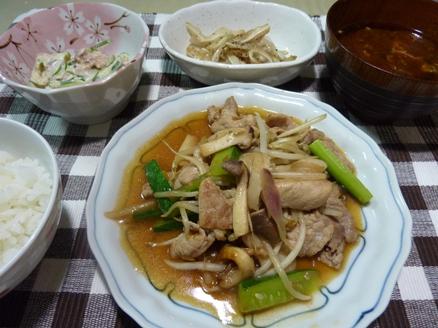 豚肉と胡瓜の香味炒め