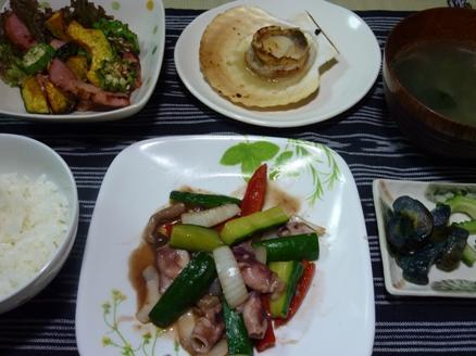 イカと胡瓜の炒め物
