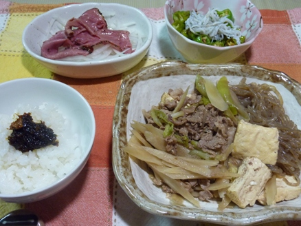 すき焼き風煮