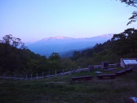 薬師岳の夕焼2010,06,04