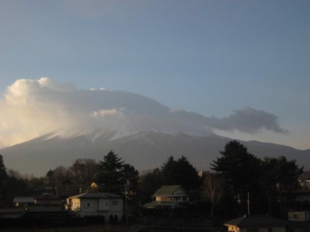 12月24日クリスマスイブの富士山