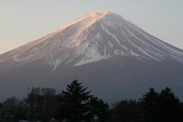 初冬朝の富士山