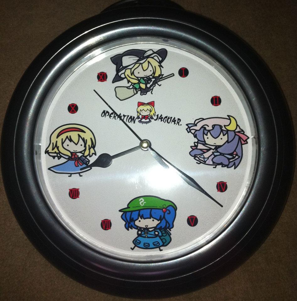 壁掛け時計魔理沙組