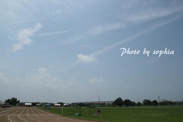 大会の日の空