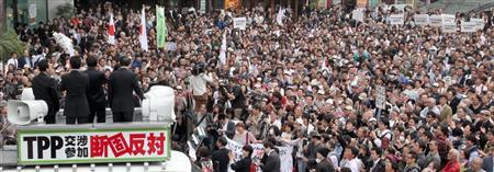 ◆PP交渉参加に反対する街頭演説会