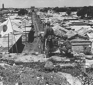 ・・日本が防衛している通州 Occupied_Tongzhou_by_IJA