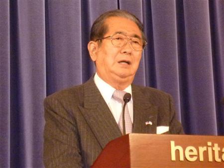 ・・・東京都の尖閣諸島購入について語る石原慎太郎知事