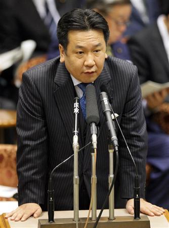 ◆参院予算委員会で答弁する枝野幸男経産相 商標権侵害